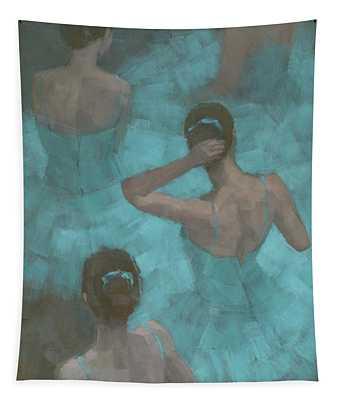 Ballerinas In Blue Tapestry