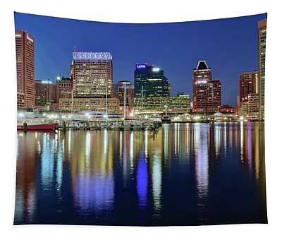 Baltimore Blue Hour Tapestry