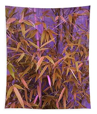 Bamboo Leaves In Spiced Pumpkin Tapestry