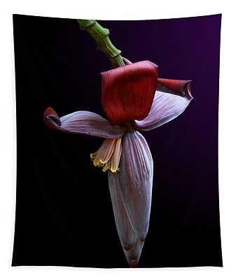 Banana Flower Portrait Tapestry