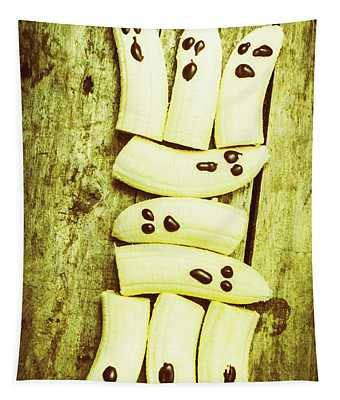 Bananas With Painted Chocolate Faces Tapestry