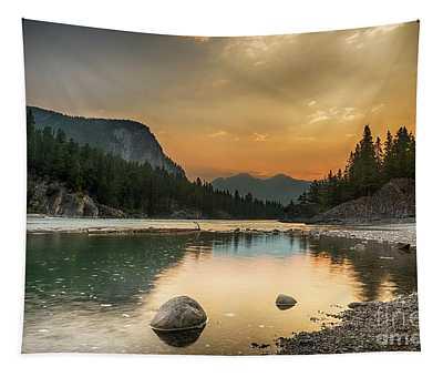 Banff Sunrise Tapestry