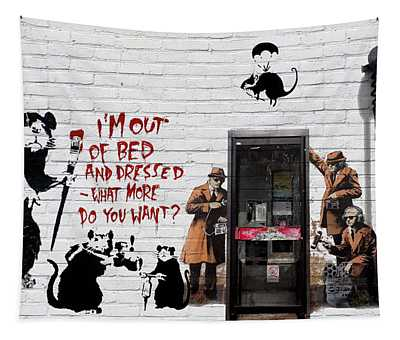 Banksy - The Tribute - Rats Tapestry
