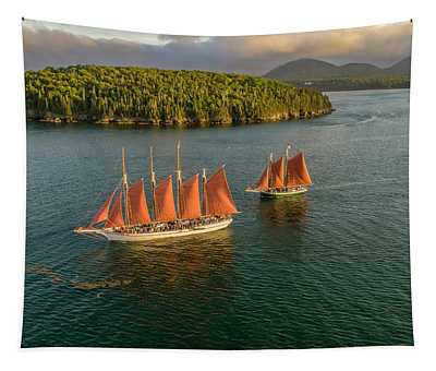 Sailing Thru Life The Downeast Way Tapestry