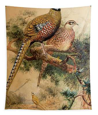 Bar-tailed Pheasant Tapestry