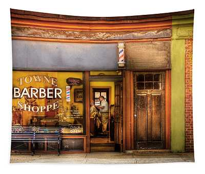 Barber - Towne Barber Shop Tapestry