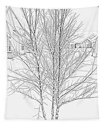 Bare Naked Tree Tapestry