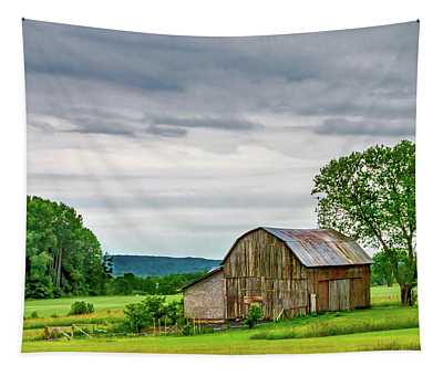 Barn In Bliss Township Tapestry