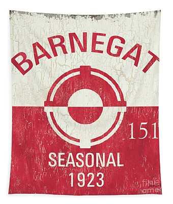 Barnegat Beach Badge Tapestry
