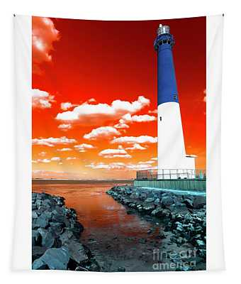 Barnegat Lighthouse Pop Art Tapestry