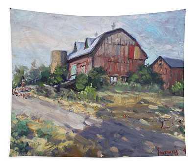 Barns In Georgetown Tapestry