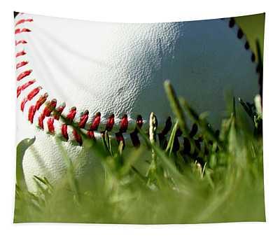 Baseball In Grass Tapestry