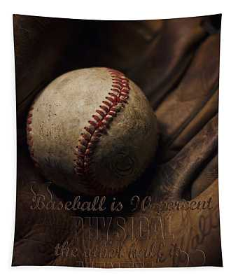 Baseball Yogi Berra Quote Tapestry