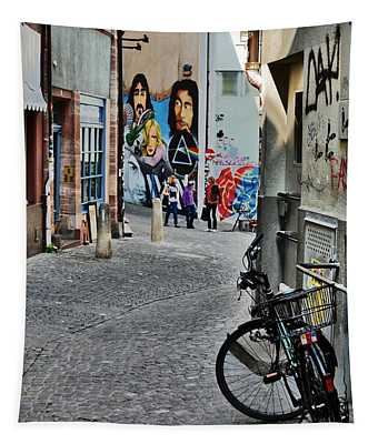 Basel - Switzerland - Bike And Street Tapestry