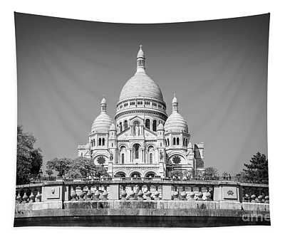 Basilica Of The Sacred Heart In Paris Tapestry