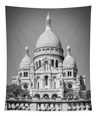 Basilica Of The Sacred Heart In Montmartre Tapestry