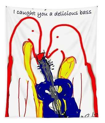 Bass Birds Tapestry