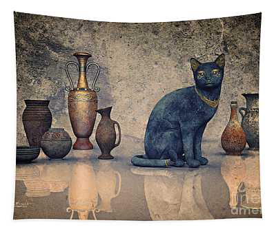 Bastet And Pottery Tapestry