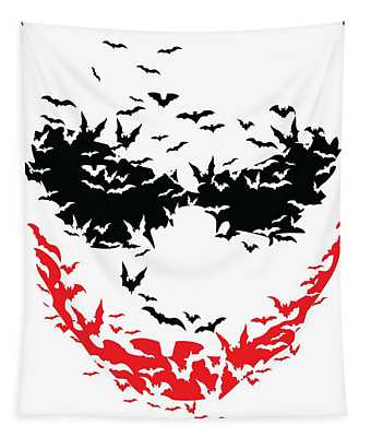 Bat Face Tapestry
