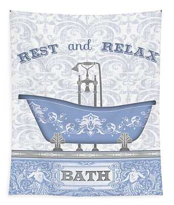 Bath Time-blue-jp3845 Tapestry