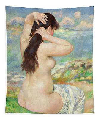 Bather Arranging Her Hair Tapestry