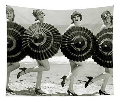 Bathing Beauties With Parasols Tapestry