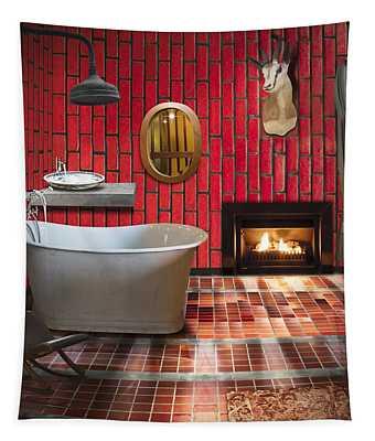Bathroom Retro Style Tapestry