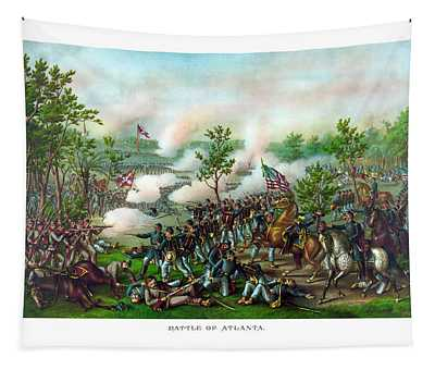 Battle Of Atlanta Tapestry