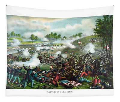 Battle Of Bull Run Tapestry