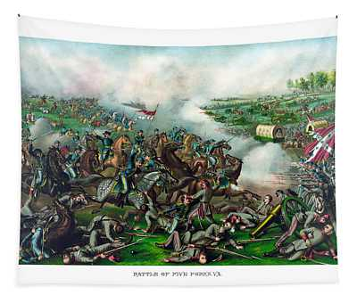Battle Of Five Forks Tapestry