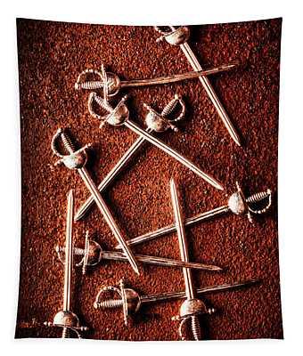 Battle Of Swords Tapestry