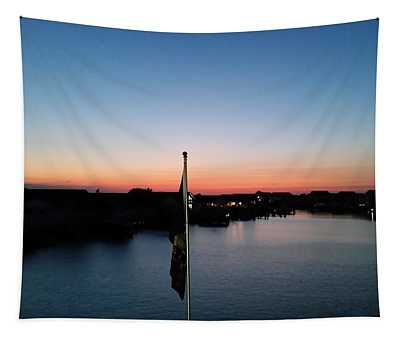 Bay At Day's End Tapestry