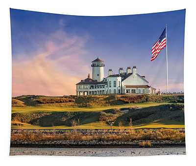 Tapestry featuring the photograph Bayonne Golf Club by Susan Candelario