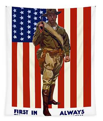 Be A Us Marine Tapestry