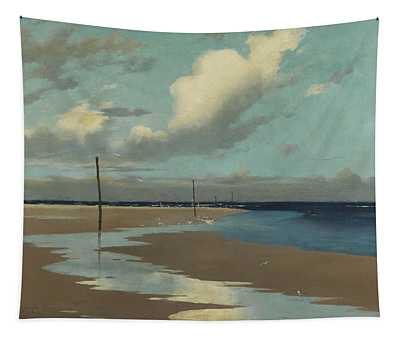 Beach At Low Tide Tapestry