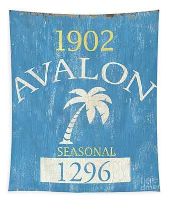 Beach Badge Avalon Tapestry