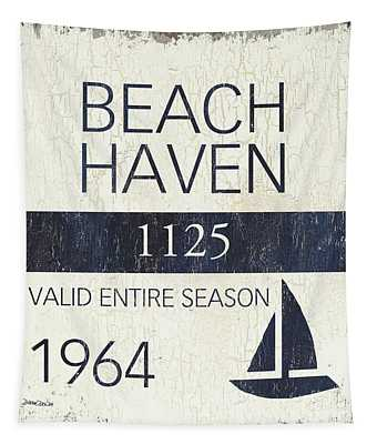 Beach Badge Beach Haven Tapestry