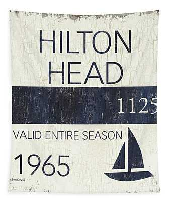 Beach Badge Hilton Head Tapestry