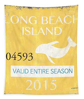 Beach Badge Long Beach Island Tapestry