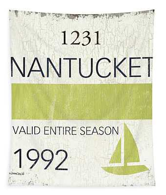 Beach Badge Nantucket Tapestry