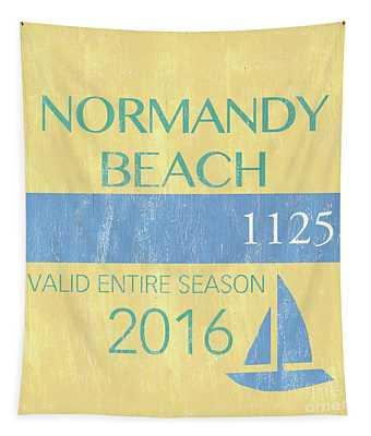 Beach Badge Normandy Beach 2 Tapestry