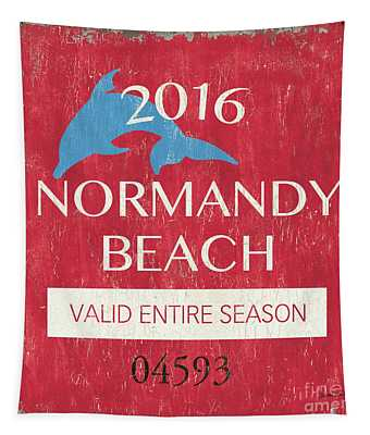 Beach Badge Normandy Beach Tapestry