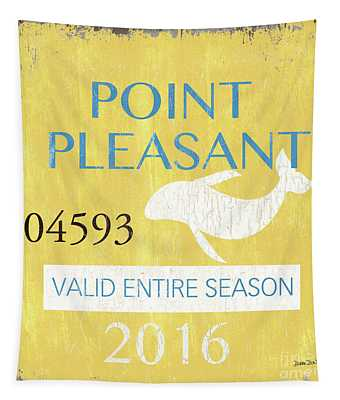 Beach Badge Point Pleasant Tapestry