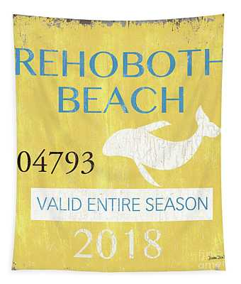 Beach Badge Rehoboth Beach Tapestry