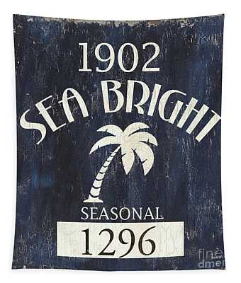 Beach Badge Sea Bright Tapestry