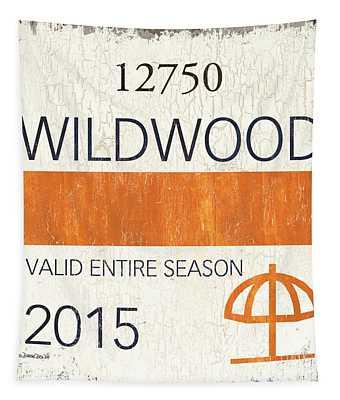 Beach Badge Wildwood Tapestry