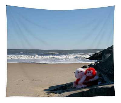 Beach Bears Tapestry