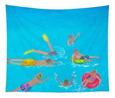 Beach Decor 'holiday Splash' By Jan Matson Tapestry