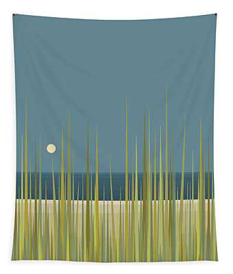 Beach Grass And Blue Sky Tapestry