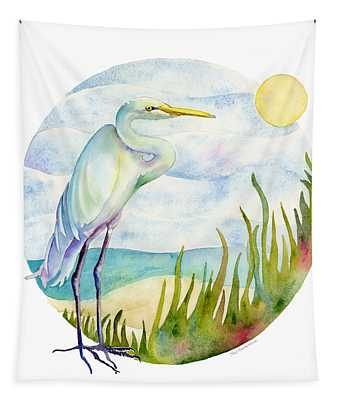Beach Heron Tapestry